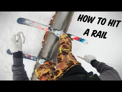 How To Hit A Rail On Skis