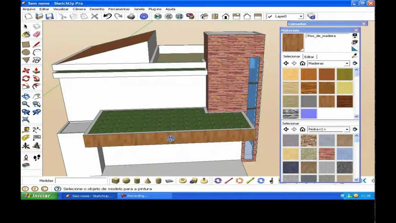 Arquitetura moderna casa no sketchup doovi for Casa moderna sketchup download