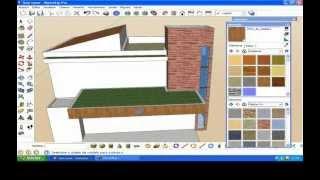 Arquitetura moderna - casa no SketchUp