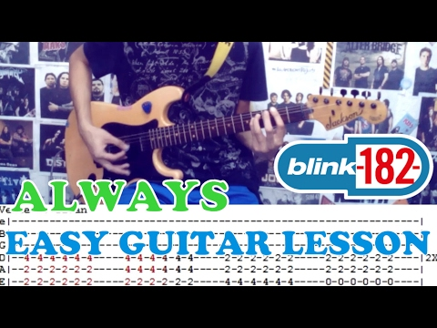 Always Blink 182easy Guitar Lessoncoverwith Chords And Tab