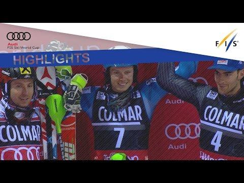 Highlights   Kristoffersen defends '3Tre' slalom title in Madonna di Campiglio   FIS Alpine