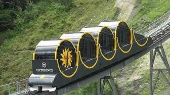 Le Funiculaire le plus raide du Monde, En Suisse, à Stoos.