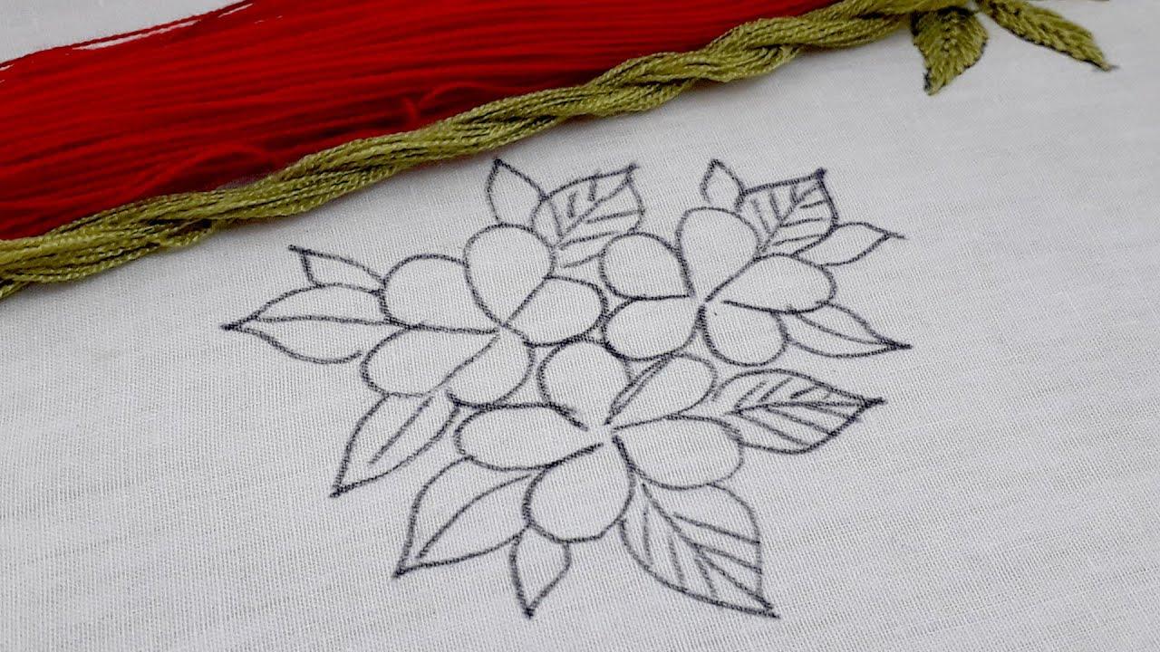 Latest fantasy flower embroidery design#modern hand embroidery flower designs @Nakshi Katha