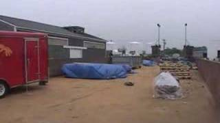 2007 Oak Bluffs Fireworks Barge Setup Time Lapse