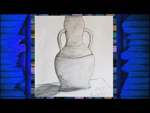 Ekt Karakalem Natürmort Vazo çizimi Youtube