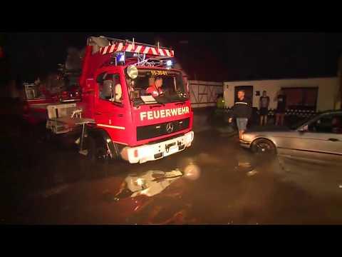 Unwetter über Deutschland: Land unter nach Sturm, Hagel und Starkregen