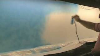 Painting the backdrop behind the river: Part 1
