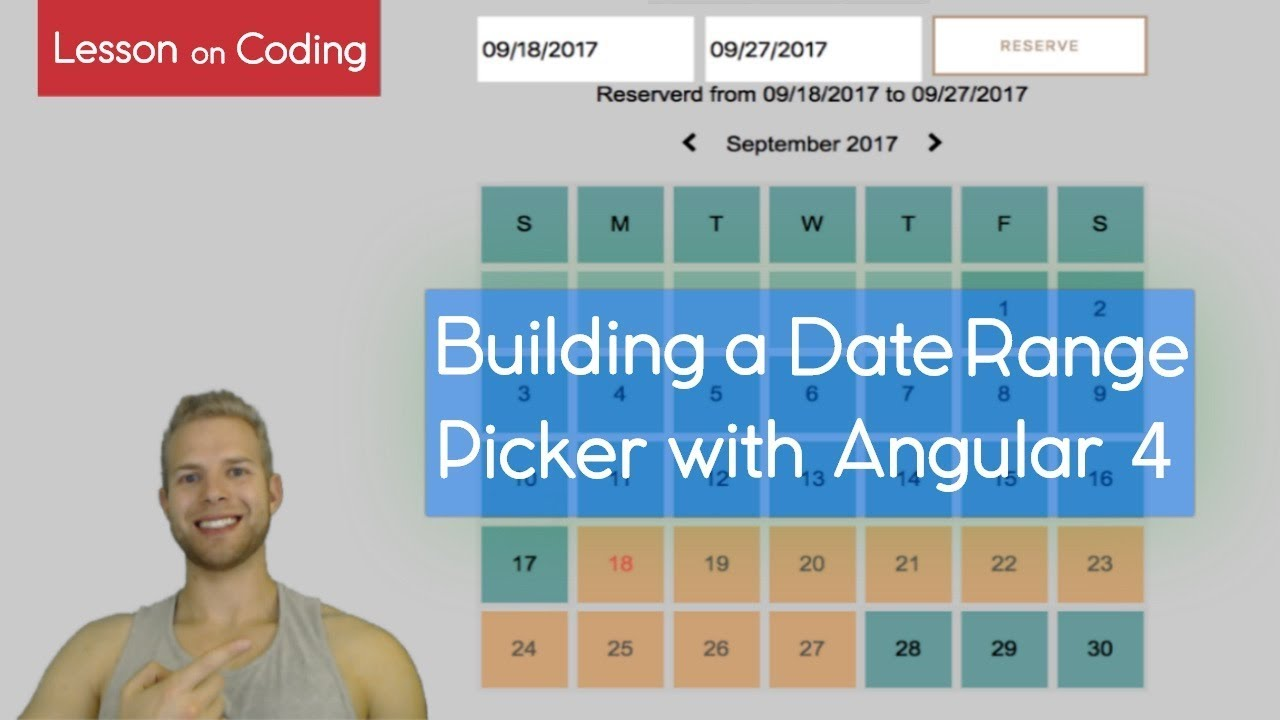 Building a Custom Date Range Picker with Angular!