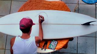 HOW TO PAINT A SURFBOARD #2 surf street art graffiti posca pens bombing markers pistache tutorial