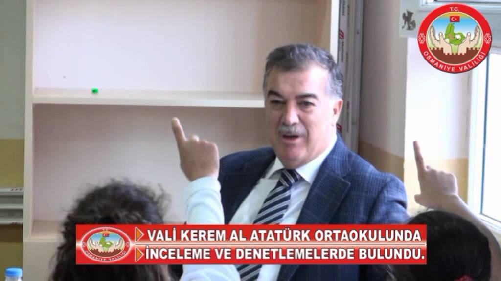Vali Kerem Al, Atatürk Ortaokulunu Ziyaret Etti