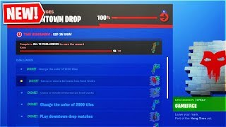 "Here's How To Complete All! New ""DOWNTOWN DROP"" Challenges In Fortnite! (Free Rewards!)"