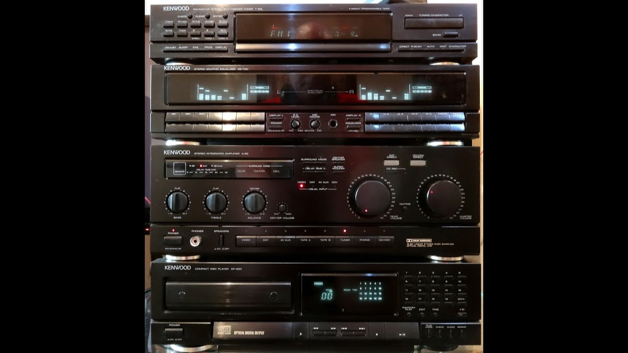 kenwood a 93 dac receiver for 25 years my loyal setup never let me down [ 1280 x 720 Pixel ]