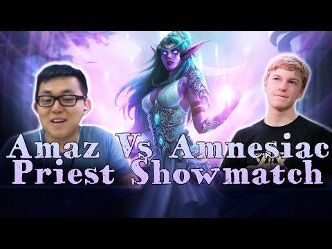 [Hearthstone] Amaz and Amnesiac Priest Showmatch (Sponsored by Amazon Prime)