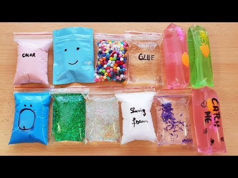Making Slime with Bags and Slippery Stress toys