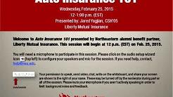 Northeastern University Alumni Webinar Series: Auto Insurance 101