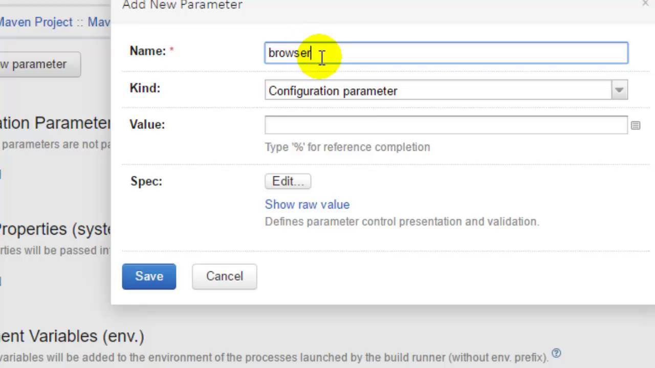 Passing parameters to the build in TeamCity