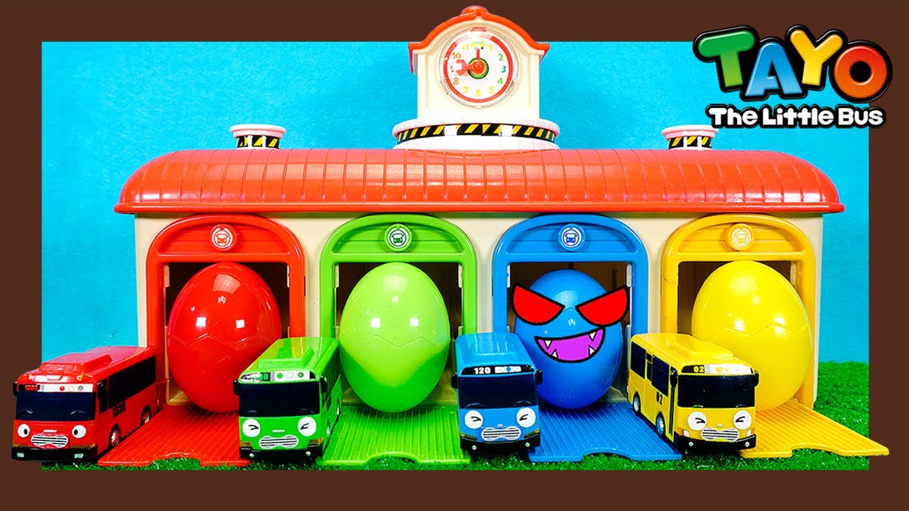 Tayo Monster Police l Super big eggs in Tayo's garage l Tayo the Little Bus