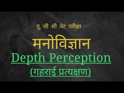 UGC-NET Psychology depth Perception