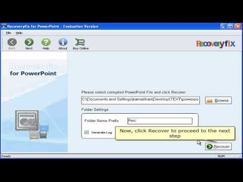 Recoveryfix For Powerpoint, Recover And Repair Corrupted Ppt File