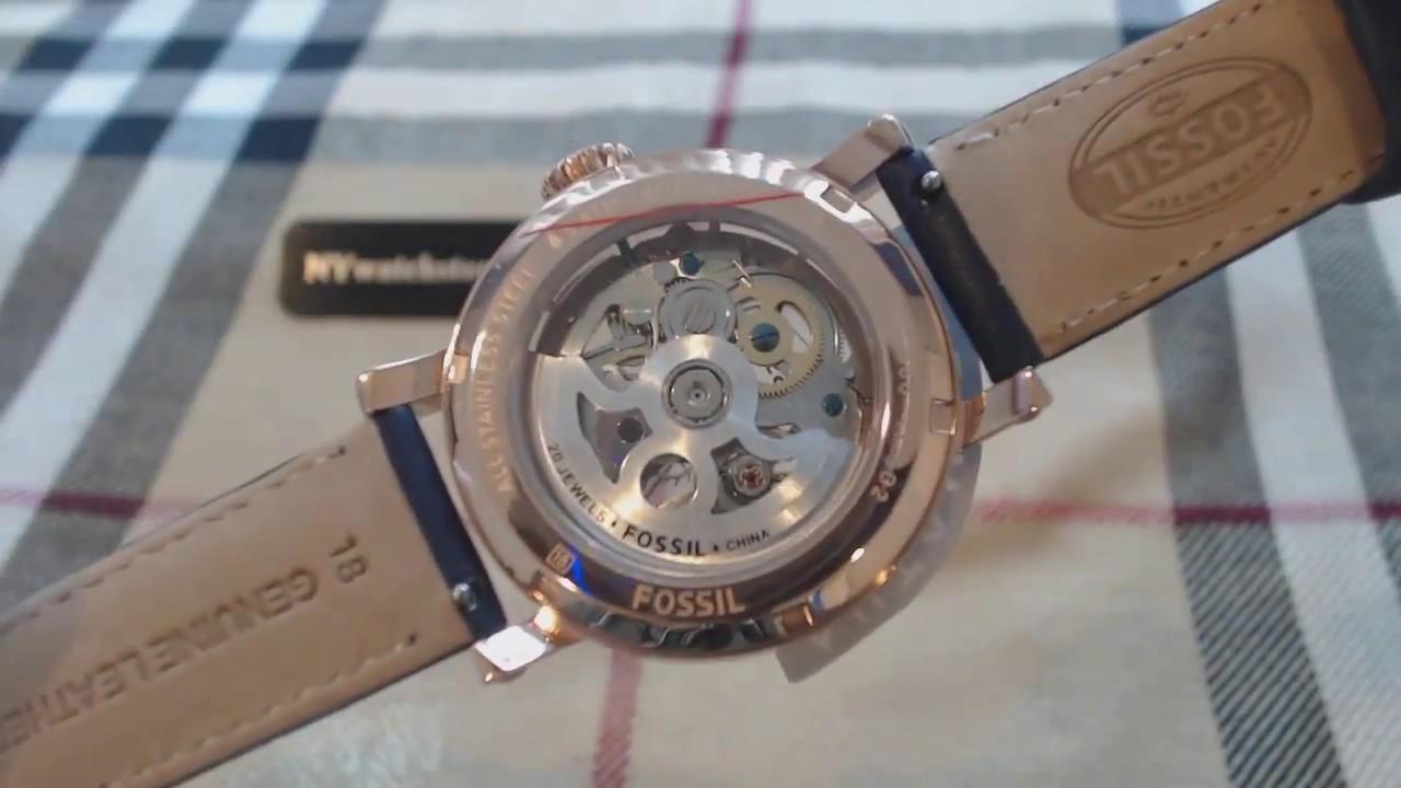 8cbc802aa Women's Fossil Original Boyfriend Automatic Watch ME3086 - YouTube