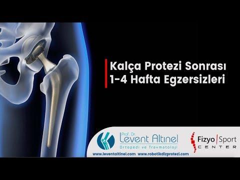 Kalça protezi ameliyatı sonrası  1-4 hafta Egzersizleri