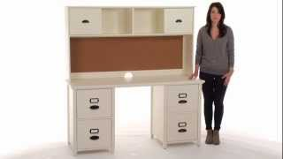 Keep Files And Other Study Supplies Neatly Organized With This Desk And Hutch | Pbteen