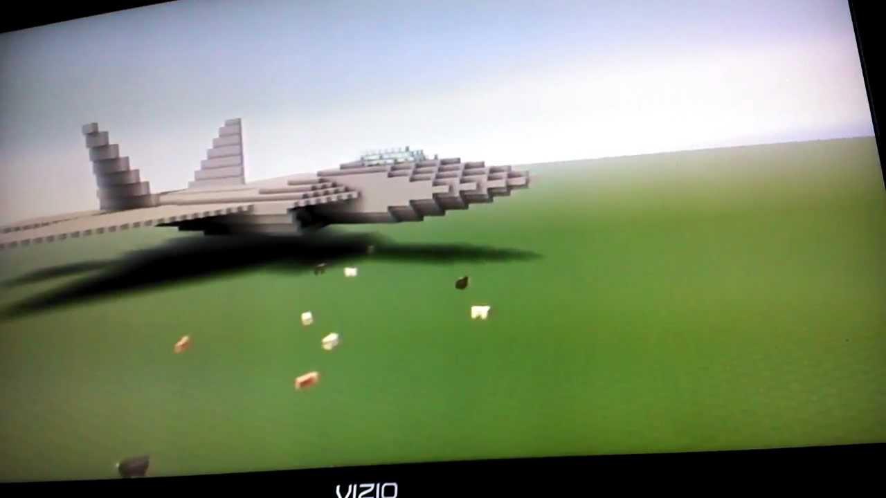 Minecraft F 22 Raptor Stealth Fighter Series Part 1 Youtube