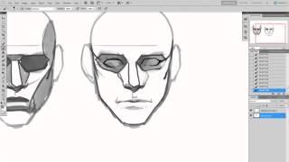 Рисование персонажей (урок #2) | Как рисовать мужской портрет