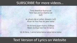 Ik Tera Pyar LYRICS | Master Saleem & Rishi Rich