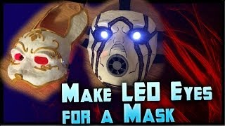 How to Make LED Eyes For a Mask! Light Up Eyes Tutorial Cheap! By ohaple
