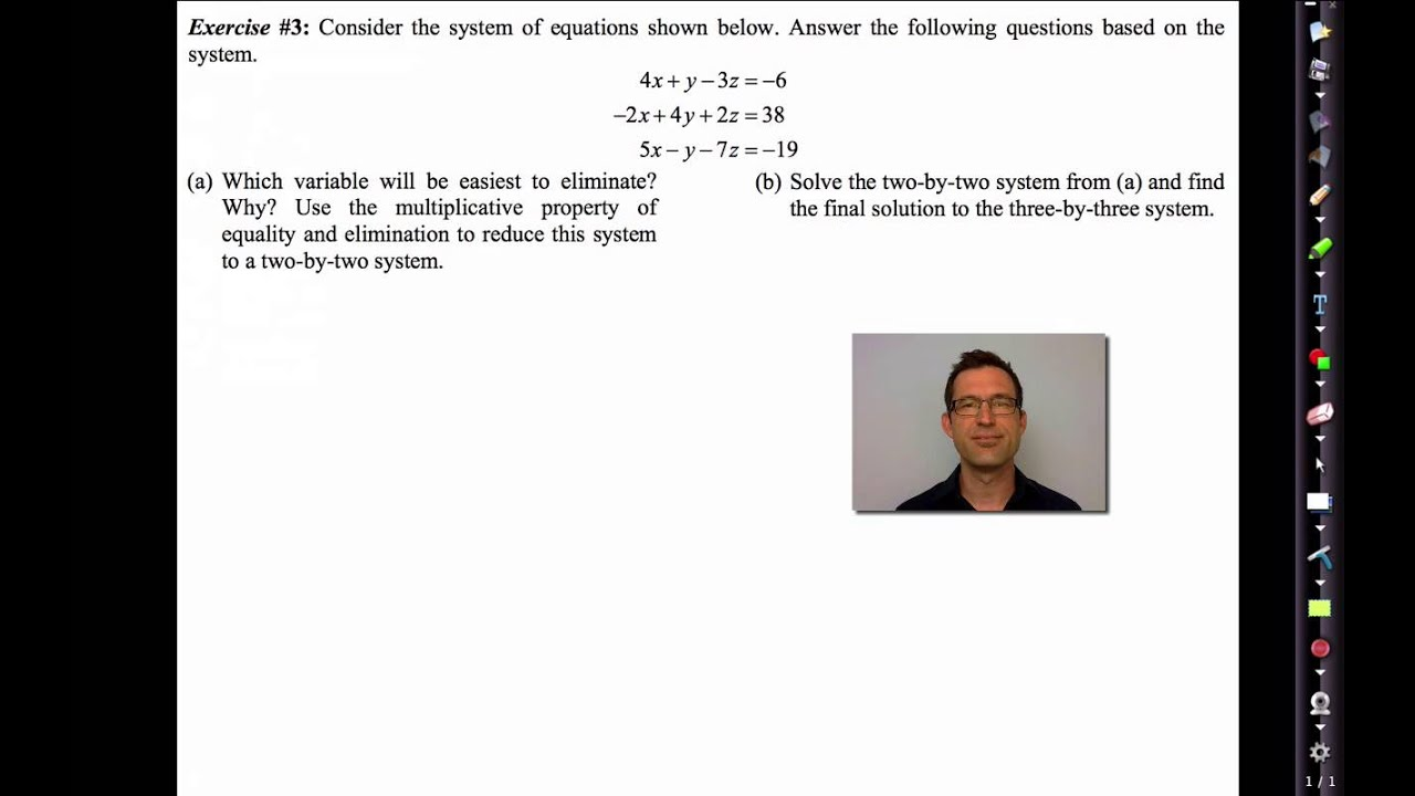Common Core Algebra II Unit 3 Lesson 7 Solving Systems of Linear Equations