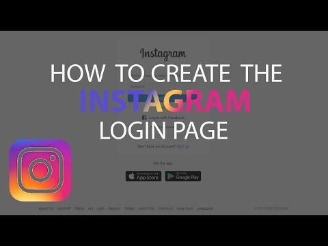 How To Create The Instagram Login Page Using HTML And CSS | Instagram Login Page
