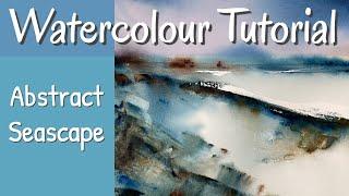 Creative, Fun Abstract Seascape Watercolour Demo