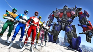 POWER RANGERS VS OPTIMUS PRIME TRANSFORMERS GTA 5 MOD(Power Rangers go against Optimus Prime! Can the Transformers win? We shall find out. ▻ Subscribe for more top notch videos! ▻http://bit.ly/SubToMkElite ..., 2017-02-11T23:00:02.000Z)