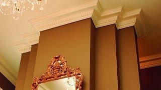 Как клеить багеты (потолочные)(Как клеить багеты (потолочные) - монтаж потолочного плинтуса - как клеить потолочные багеты Подпишитесь..., 2014-10-02T10:29:05.000Z)