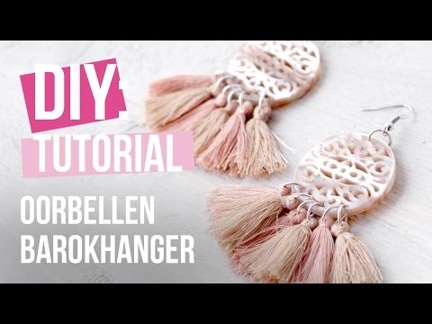 Sieraden maken: Barokhanger oorbellen met kwastjes ♡ DIY