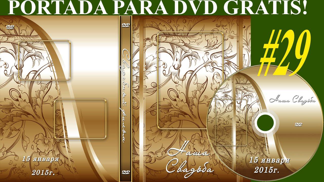 Plantillas psd para crear portada y etiqueta DVD - Diseño DORADO ...