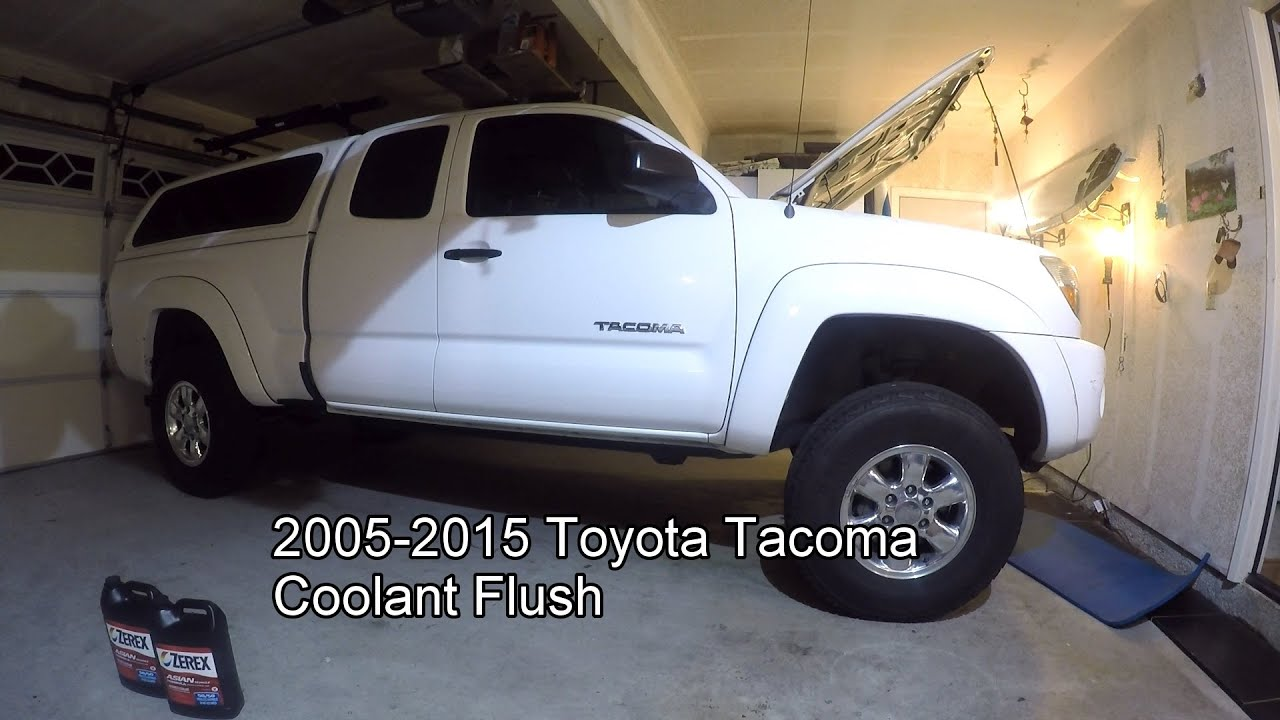 2005 - 2010 Toyota Tacoma Coolant Change Tutorial - YouTube