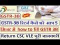 GSTR-3B रिटर्न कैसे भरें  मात्र 5 मिनट में  how to fill GSTR 3B Return CSC VLE