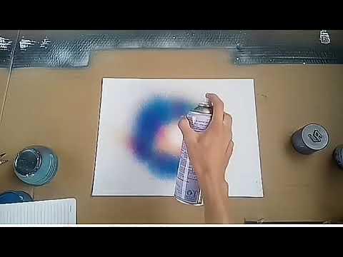 Hướng dẫn vẽ tranh phun sơn đơn giản ( galaxy)