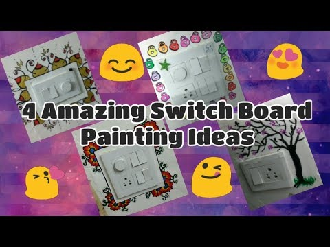 4 Amazing Switch Board Painting Ideas 😊 |Wall painting 😊| THE SECRET OF ART