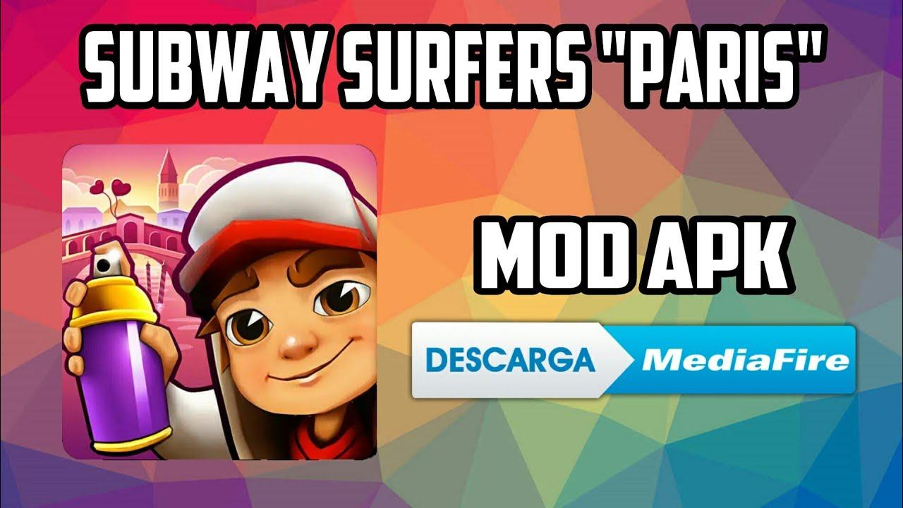mod apk subway surfers paris