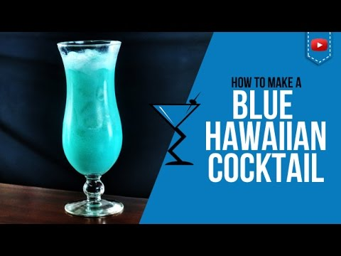 Blue Hawaiian Cocktail How To Make A Blue Hawaiian Cocktail Recipe By Drink Lab Popular Youtube