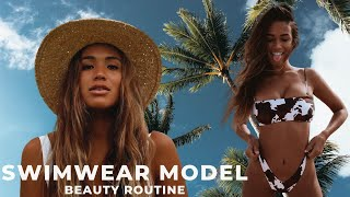 Swimwear Model beauty routine | body hair removal, skincare, etc.