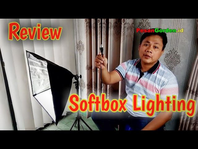 YouTuber : Review Softbox Lighting Untuk Video dan Photography #gudanggorden