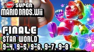 Repeat youtube video New Super Mario Bros Wii - Star World - FINALE - World 9-4, 9-5, 9-6, 9-7, & 9-8