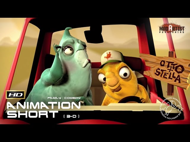 Otto & Stella   The relationship test in a car trip  (3D CGI Animation by The Animation Workshop)