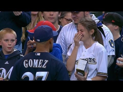 Young  overwhelmed from meeting Gomez