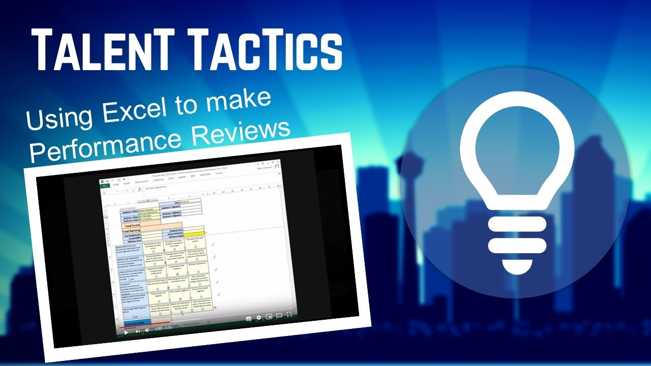 Performance Review using Excel YouTube – Performance Review Format