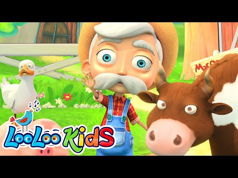 Free Download 👨🏻‍🌾 Old Macdonald Had A Farm 🚜 The Best Song For Children | Looloo Kids Mp3 dan Mp4